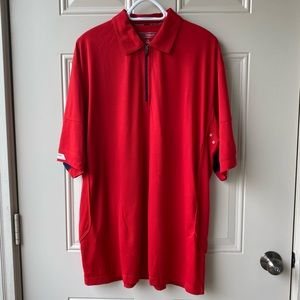 Cutter & Buck thermaTec red polo shirt